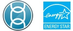 Link\u002DOS compatible icon, Energy Star icon