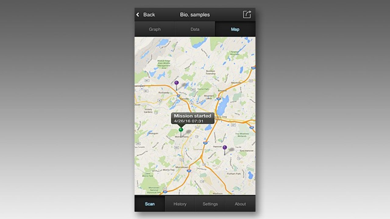 Screenshot of the EDGEVue mobile app