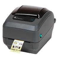 Zebra gk420t compact thermal transfer desktop label printer.