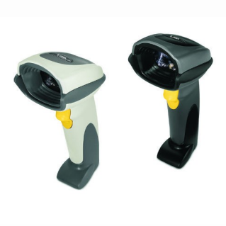 Zebra DS6708\u002DDL barcode scanners, shown in white and black