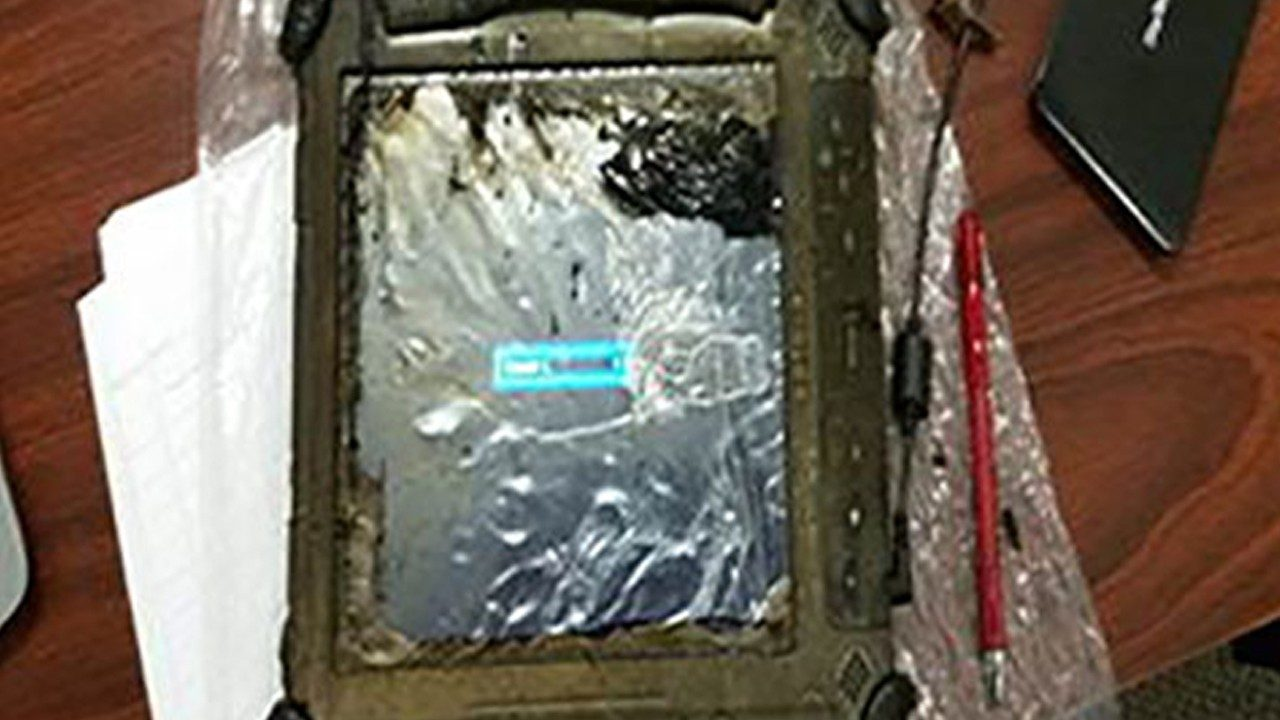 This Zebra XC6 ultra\u002Drugged tablet was burned pretty badly during a truck fire – but it still works!