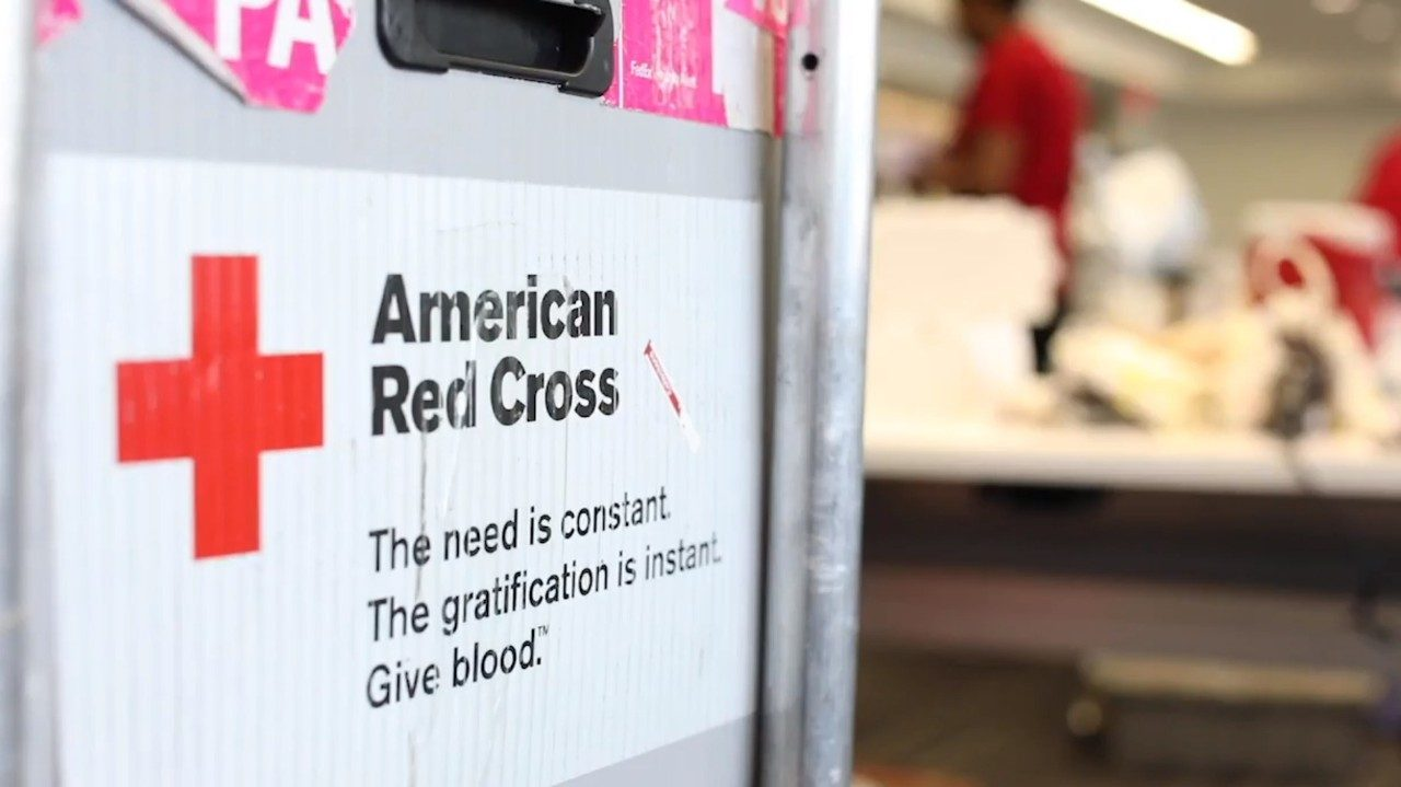 An American Red Cross sign
