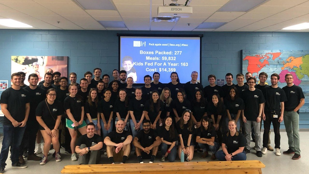 "Members of Zebra's 2019 Summer Class of Interns volunteered with ""Feed My Starving Children"" as part of the #50HourChallenge"