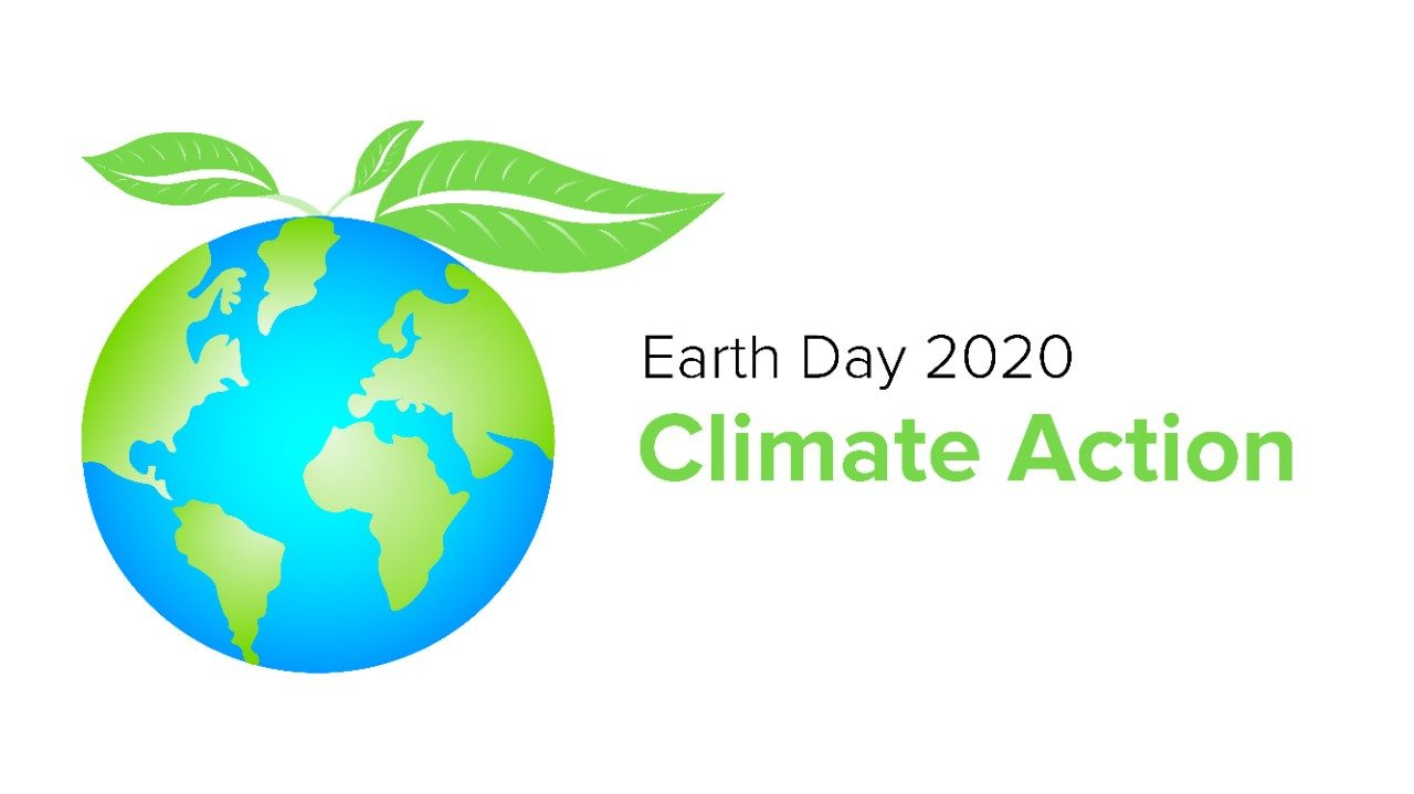 Earth Day 2020 Climate Action logo
