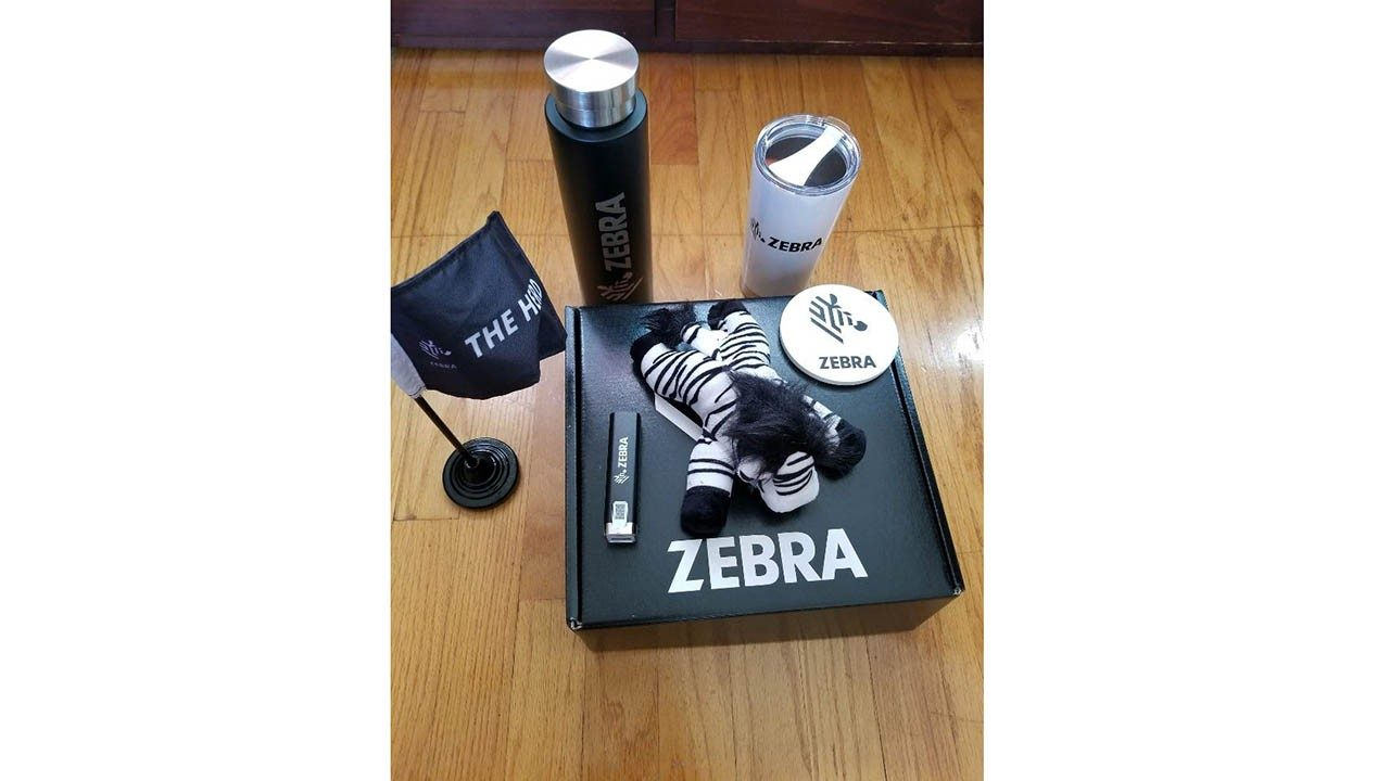 Some of the swag that Zebra`s 2020 summer interns received.