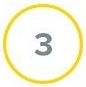 Number Three  in a yellow circle