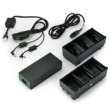 Dual 3\u002DSlot Battery Charger for Zebra mobile printers