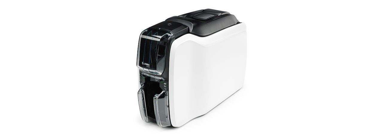 Zebra ZC100 Card Printer, Left View