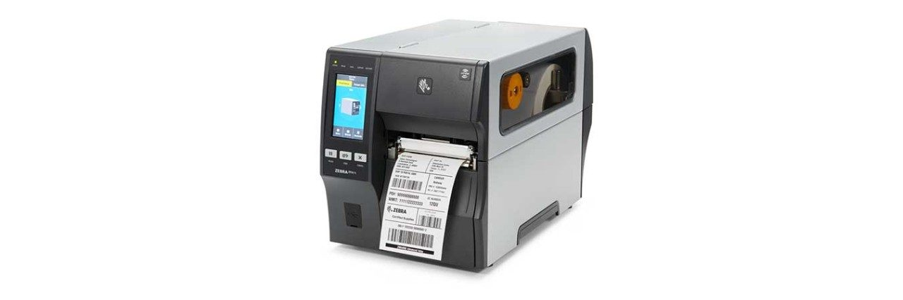 ZT411 RFID Printer with Media, Left View