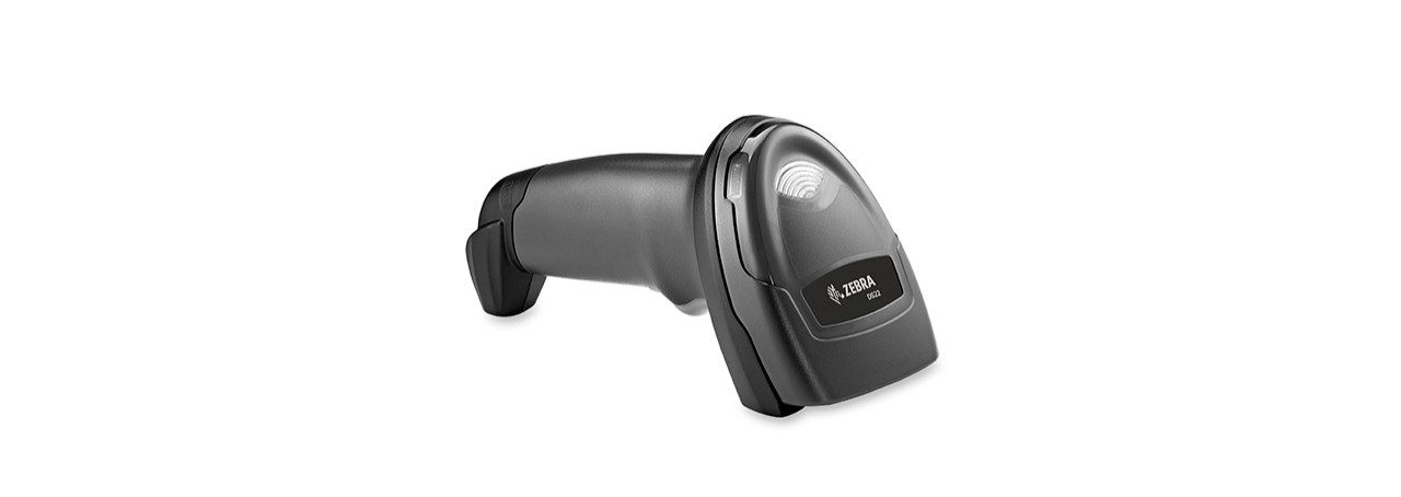 Zebra DS2200 Barcode Scanner, Right View Laying Down