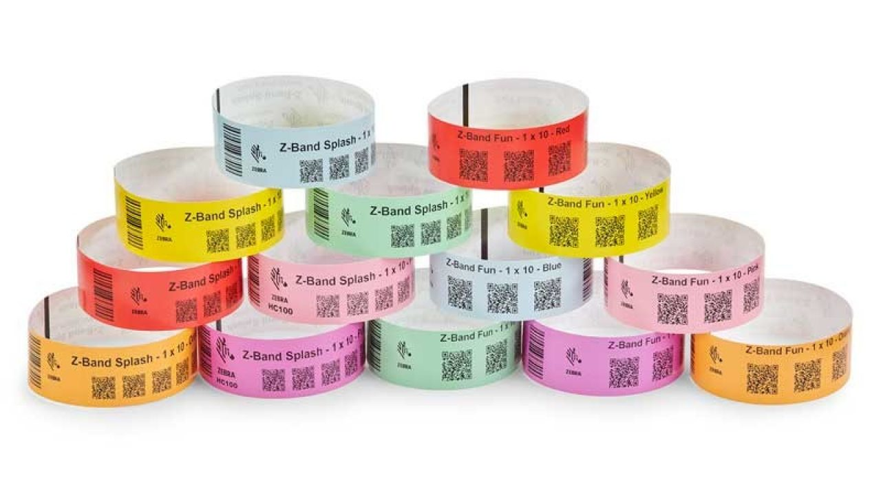 Front view of Zebra`s Wristband Solutions