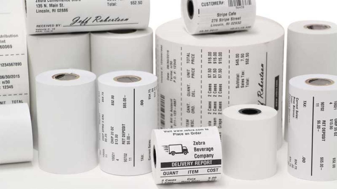 Front view of Zebra Receipt Paper Solutions