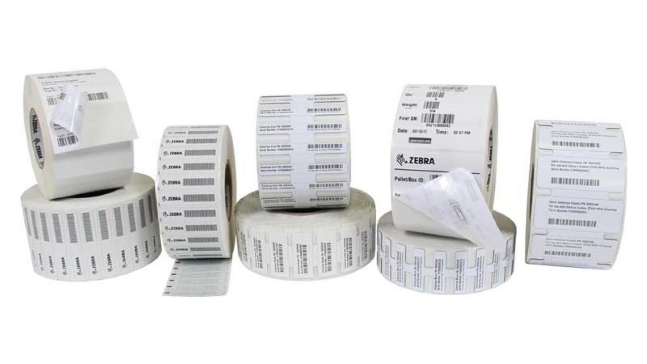 Group of Zebra RFID Labels