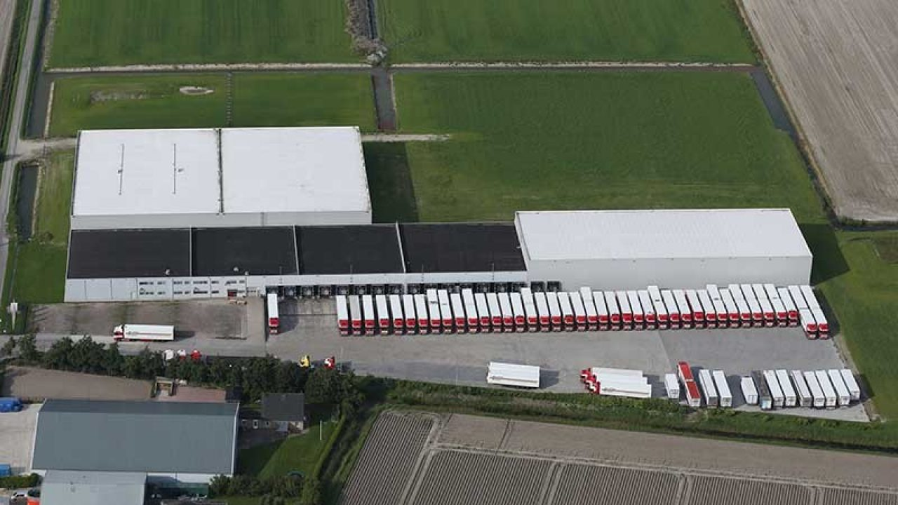 Warehouse, aerial shot
