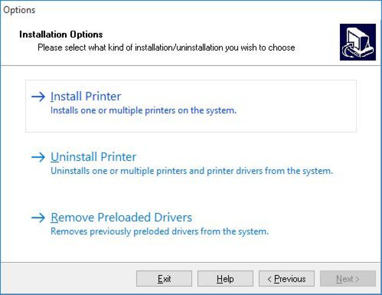 Installare l'acquisizione dello schermo della stampante