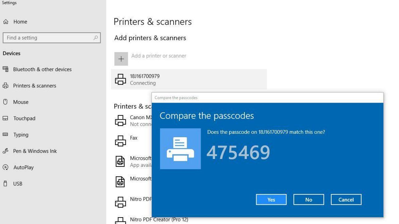 Inserire l'acquisizione dello schermo del passcode